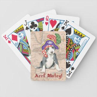 Pitbull-Terrier-Pirat Bicycle Spielkarten