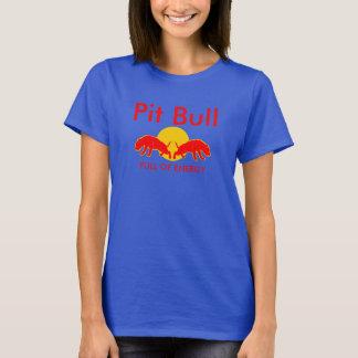 Pitbull voll des Energie-Slogan-T-Shirts T-Shirt