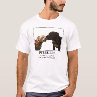 Pitbulls - geboren zum Liebe-Weiß - LRBBC T-Shirt