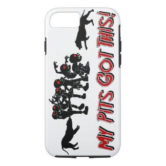 Pitbulls gegen Telefon Cas des Zombie-lustiges iPhone 8/7 Hülle