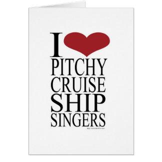 Pitchy Sänger-Regel Karte