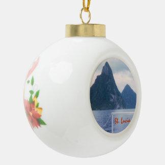 Pitons vom Meer Keramik Kugel-Ornament