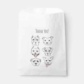 """""""Pittie Pittie bitte!"""" Hundegesichter   danken Geschenktütchen"""