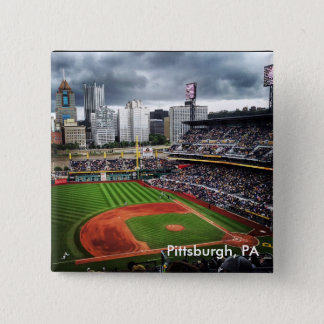 Pittsburgh-Baseball Quadratischer Button 5,1 Cm