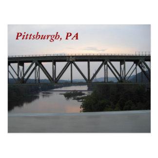 Pittsburgh-Brücken-Postkarte Postkarte
