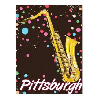 Pittsburgh-Saxophonreiseplakat Karte