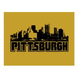 Pittsburgh-Skyline Postkarte