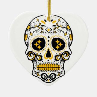 Pittsburgh-Zuckerschädel Keramik Ornament