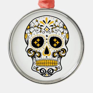 Pittsburgh-Zuckerschädel Silbernes Ornament