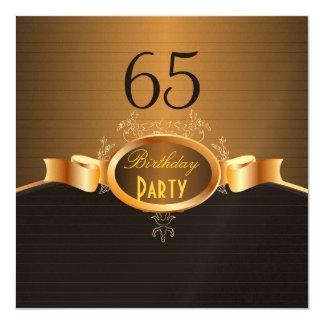 PixDezines 65 Geburtstag Party/DIY Ihr Ereignis. Quadratische 13,3 Cm Einladungskarte