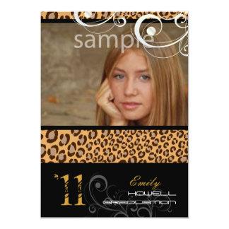 PixDezines Abschluss, Leopard-Druck 12,7 X 17,8 Cm Einladungskarte