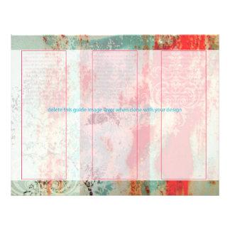 PixDezines abstrakte/verrostete Tür+Damast Flyerbedruckung