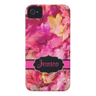 PixDezines Ahorn-Blätter heißen Rosas/Fall iPhone 4 Case-Mate Hülle