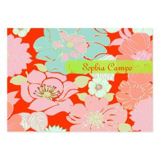 PixDezines Alegre Retro Blumen, DIY Hintergrund Visitenkarten Vorlage