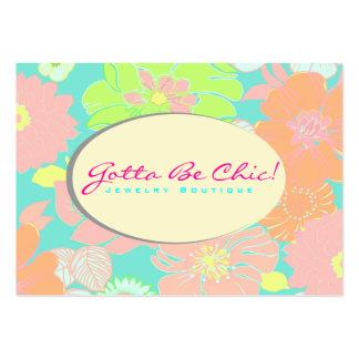 PixDezines Alegre Retro Blumen Pastel DIY Farbe Visitenkartenvorlage