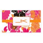 PixDezines Alegre Retro Floral Design Visitenkarten