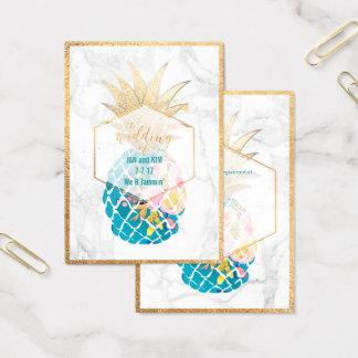 PixDezines Aloha Ananas/Gold/Marmor/Einschließung Visitenkarte