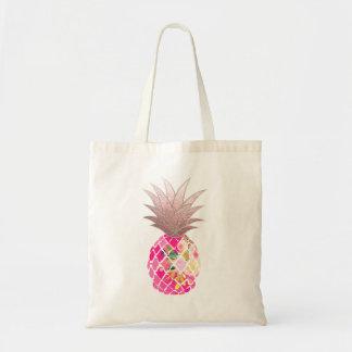 PixDezines Aloha Ananas+Imitat-Rosen-Gold Tragetasche