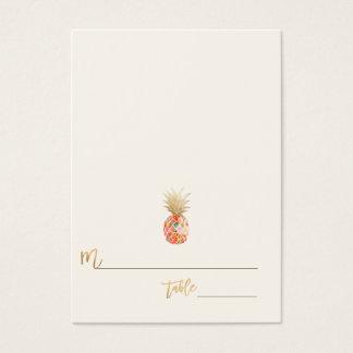 PixDezines Aloha hawaiische Ananas/Platzkarten Visitenkarte