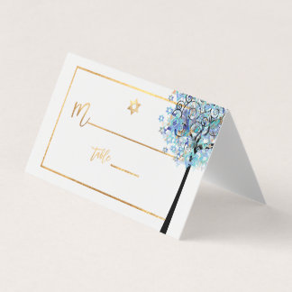 PixDezines Baum des Lebens+Aqua-Blau Platzkarte