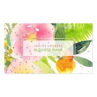 PixDezines BlumenAquarell/Frühlings-Blumenstrauß Visitenkarten