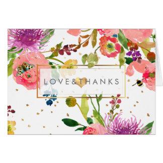 PixDezines BlumenAquarell/Ranunculus/danken Ihnen Mitteilungskarte