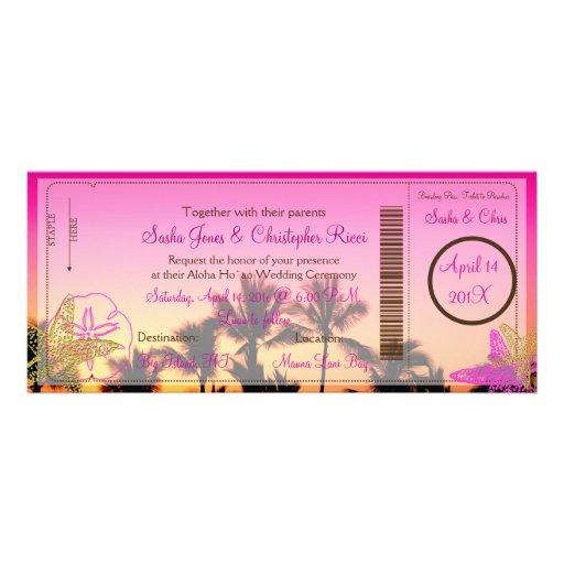 PixDezines Boarding-Durchlauf+Tropische Personalisierte Ankündigung