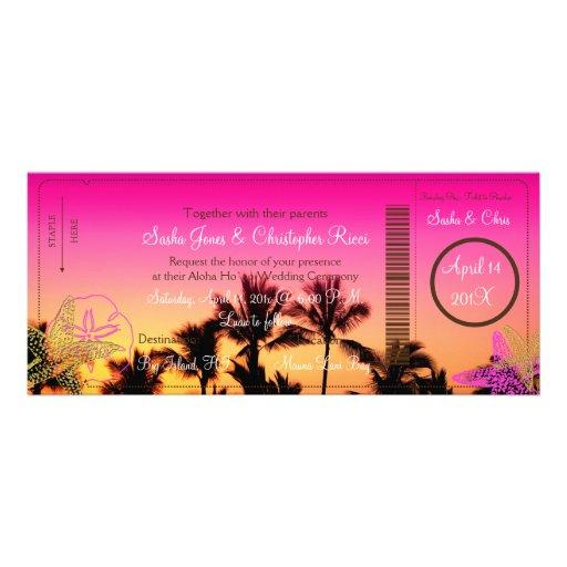 PixDezines Boarding-Durchlauf+Tropische Personalisierte Einladung