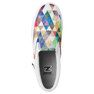PixDezines Bobo geometrisch/Dreieck-Muster Slip-On Sneaker