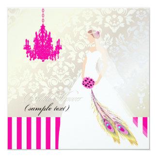 PixDezines Braut 2 B Quadratische 13,3 Cm Einladungskarte