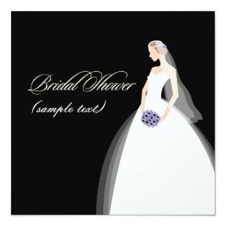 PixDezines Braut 2 B, kundengerechter Hintergrund Quadratische 13,3 Cm Einladungskarte