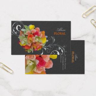 PixDezines Brautblumenstrauß, Floristen/diy Farben Visitenkarte
