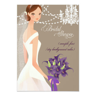 PixDezines Brautshower/DIY Gelegenheit+Farbe 12,7 X 17,8 Cm Einladungskarte