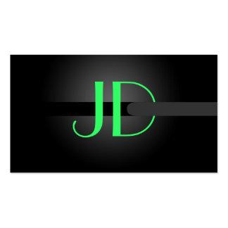 PixDezines cooles Neonlicht-Monogramm diy Farbe Visitenkartenvorlagen