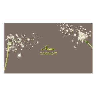 PixDezines dandelions/DIY Hintergrundfarbe Visitenkarte