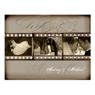 PixDezines danken Vintage Hochzeits-Fotos Ihnen Postkarte