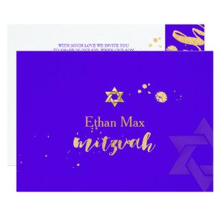 PixDezines DIY Farbe/stilvolles Skript/Bar Mitzvah 12,7 X 17,8 Cm Einladungskarte