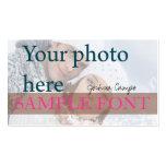 PixDezines DIY Foto+Schriftart Visitenkarten Vorlage