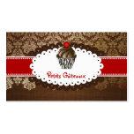PixDezines eleganter Schokoladen-Wirbelskleiner Visitenkarten