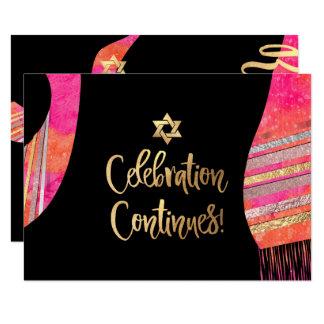 PixDezines Empfang Mitzvah/rosa Watercolor Karte