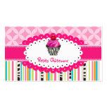 PixDezines ErdbeerWirbelskleiner kuchen+Streifen Visitenkartenvorlagen