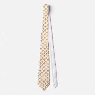 PixDezines Fleur de Lis/DIY Hintergrundfarbe Bedruckte Krawatte