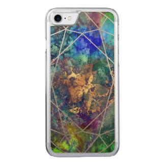 PixDezines Galaxie+Edelstein-Facetten Carved iPhone 8/7 Hülle