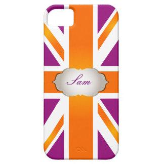 PixDezines Gewerkschafts-Jack/-himbeere+orange iPhone 5 Schutzhüllen