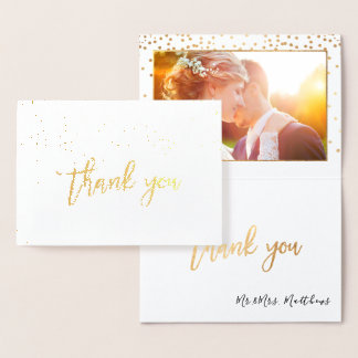PixDezines GoldConfetti danken Ihnen Folienkarte