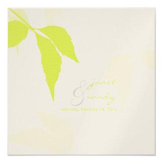 PixDezines grünes Laub/diy Hintergrundfarbe Quadratische 13,3 Cm Einladungskarte