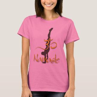 PixDezines Handstand-Pose/Namaste/Om T-Shirt