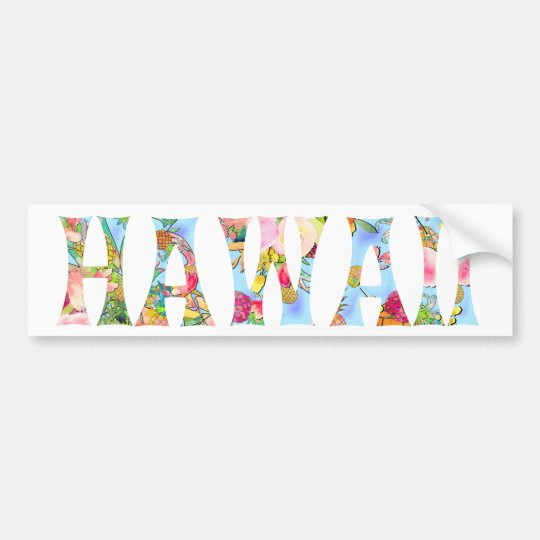 PixDezines Hawaii Tiki Typografie Autoaufkleber