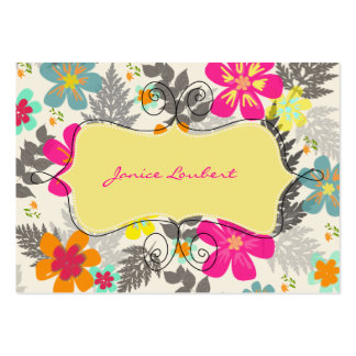 PixDezines hawaiische Jungle DIY Hintergrundfarbe Visitenkarten
