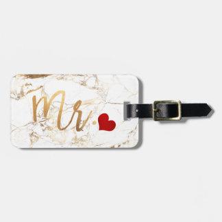 PixDezines HERR MARBLE+IMITAT-GOLD Gepäckanhänger